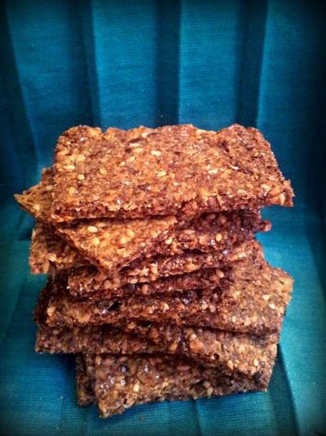 crackers semillas de lino keto